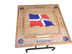 Lowest Price! Dominican Republic Domino Table with the Flag