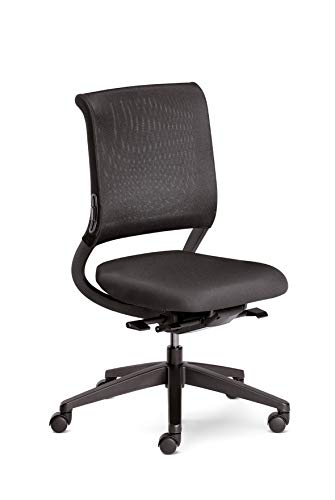 Sedus netwin light Bürostuhl, Drehstuhl, Kunststoff, Schwarz, Verstellbar