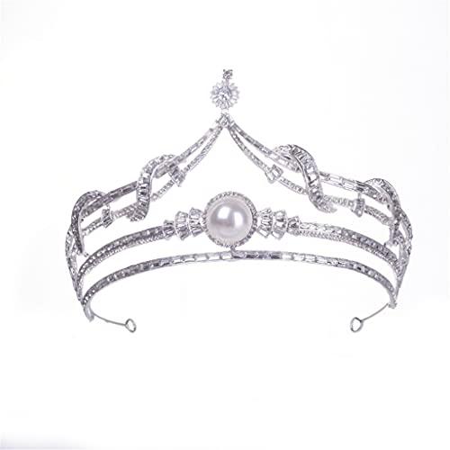 RENSLAT Corona Nupcial Tiaras Diadema Tiaras para Mujer Novia Boda Accesorios para el Cabello