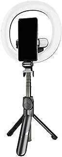 Suading XT18S Draagbare Selfie LED met Statief en Telefoon Houder Ingebouwde Batterij Led Lamp om Statief Stand voor Make-up