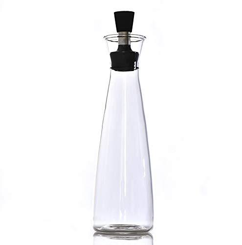 ZXvbyuff Glas Ölflasche Öltopf Großer Essig Topf Haushalt Würzen Flasche Sojasoße Flasche Kleine Flasche Essig Küche Zubehör 500ML