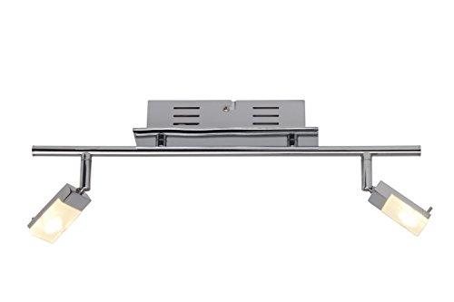 Brilliant G16413/15 Plafonnier 2L-chrome/blanc-metal/plastique-LED, 3 W