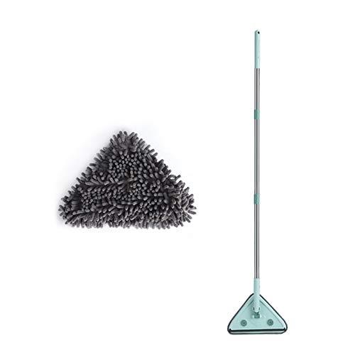 AoPong Microfibra Limpieza del trapeador, triángulo retráctil Mini trapeador de Polvo, Limpiador multifunción, con la Almohadilla de Chenilla de Microfibra Reutilizable Reutilizable (Size : A)