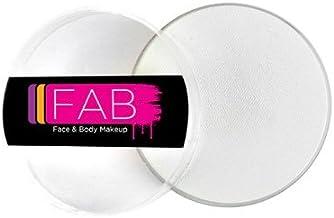 【プロ仕様】FABフェイス&ボディペイント (ホワイト) 専用固形絵の具 水溶性 FAB Face & Body Makeup