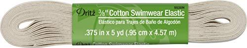 Dritz 3/8' Cotton Swimwear Elastic, Natural