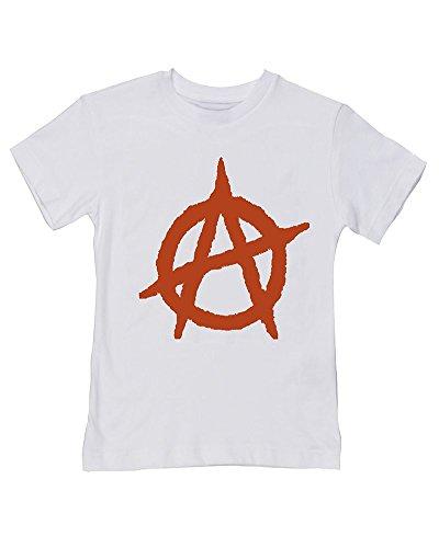 T-shirt pour bébé/enfant Motif symbole Anarchy - Blanc - 2-3 ans