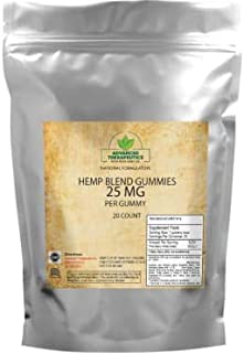 500MG Hemp Gummies for Pain Stress Control and Fast Pain Relief. 25Mg #20 Count Hemp Gummy Bears Alleviates Muscle Pain, Knee Pain and Provides Back Pain Relief with Calming Hemp Oil