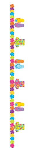 Summer Hawaiian Theme Floral Shirts Sandals Flip Flop Holiday BBQ Party Celebration Event Banner Bunting Garland Decoration