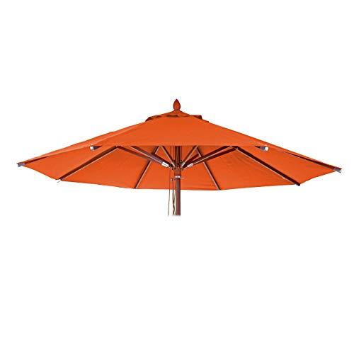 Mendler Bezug für Gastronomie Holz-Sonnenschirm HWC-C57, Sonnenschirmbezug Ersatzbezug, rund Ø4m Polyester 3kg - Terracotta