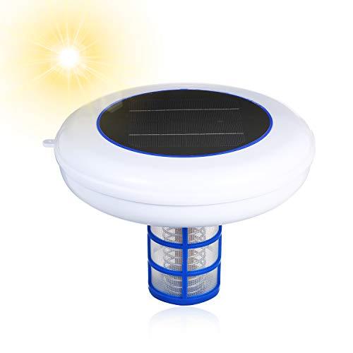 Ionizador Solar para Piscina KKmoon Solar Pool-Ionizer pequeño ionizador de cobre y plata para exteriores Purificador de agua solar para piscinas Copper Silver Ion Purificador portátil elimina