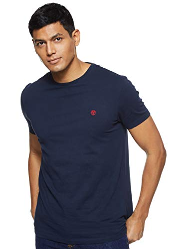 Timberland CA1LOT T-Shirt, Blu (Dark Sapphire), S (Taglia Produttore:S) Uomo