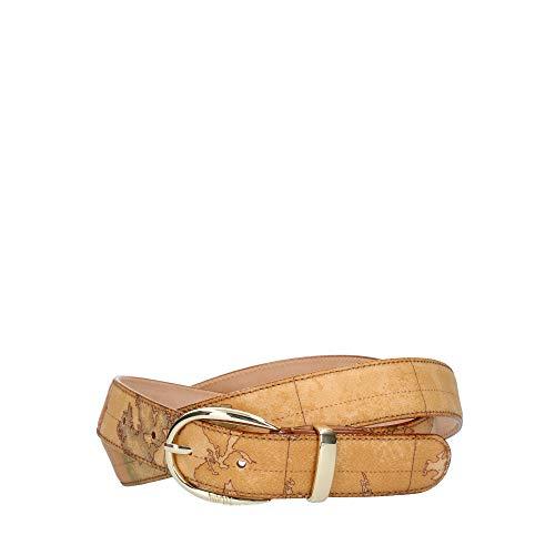 Cintura Donna cm 3 | cm 115 | Alviero Martini 1^ Classe Geo | Fibbia oro (Beige)