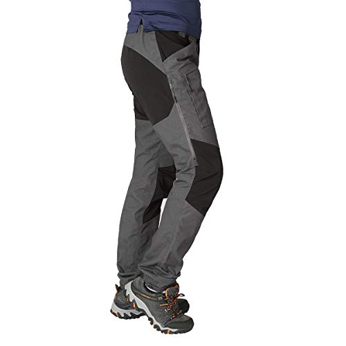 ZOOMHILL Mens Pro Hiking Stretch Pants Cargo Trouser Water-Resistant Tactical Outdoor Working Pants (Dark Grey, M)