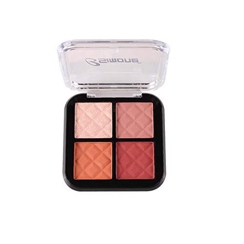 Webla 4 Couleurs Fard à Paupière Palette, Imperméable Beaute Highlighter Palette de Ombre à Paupières Eyeshadow Shimmer Fard à Paupiere Mat Brillant Maquillage pour Yeux (02#)