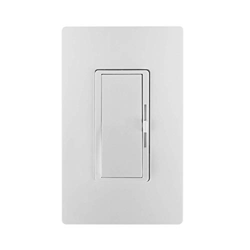 Bolrant Dimmer Switch for Dimmable LED,Compatiable with CFL(C.L) led, Wall dimmer Switch, Halogen and Incandescent Bulbs Single-Pole or 3-Way,600W Max,With wallplate