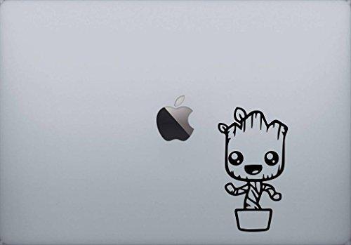 SUPERSTICKI® Groot Gaurdians of the Galaxy Aufkleber Decal Hintergrund/Maße in Inch Vinyl Sticker|Cars Trucks Vans Walls Laptop| Black |5.5 x 3 in|CCI1368