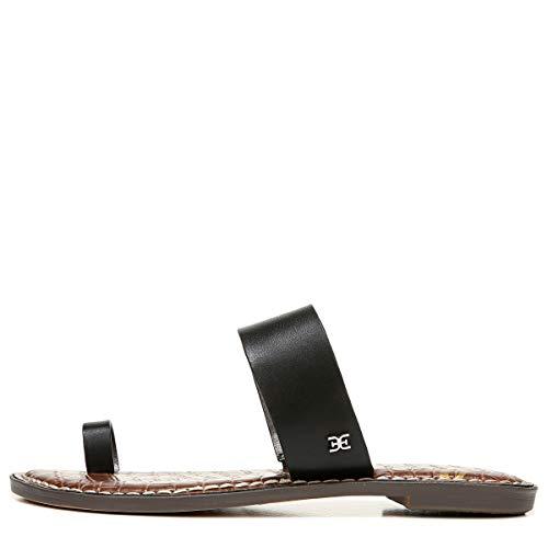 Sam Edelman womens Gorgene Flat Sandal Black 9 M