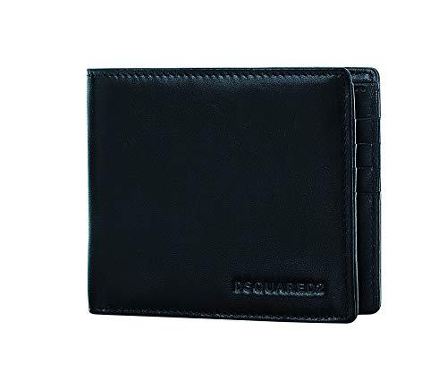 DSQUARED2 Men Black Wallet - Bifold Designer Wallets For Men Made In Italy