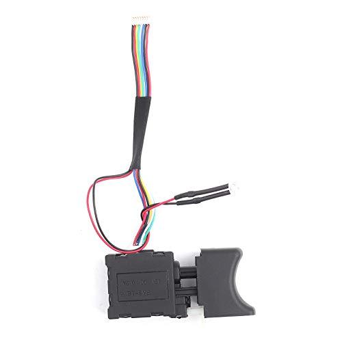 Interruptor de gatillo de taladro eléctrico de velocidad ajustable CW/CCW piezas de repuesto de herramientas eléctricas con botón pulsador 7.2V-24V 16A