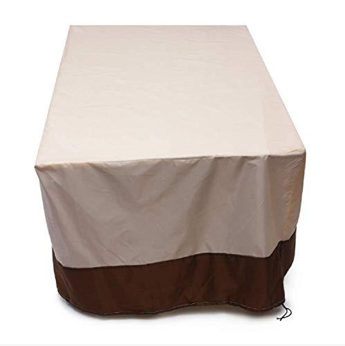 L.TSN Gartenmöbelbezüge 210D Hochleistungs-Oxford-Stoff wasserdichte Tischbezüge für den Außenbereich Terrassen-Esszimmerstühle (269x180x89cm)