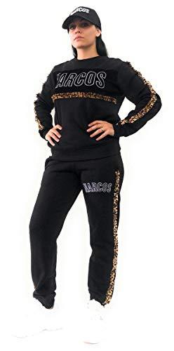 Narcos Chiusa Sweatshirt mit gesticktem Tiermotiv und Logo, Schwarz M