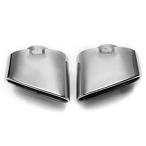 DKINCM Cubierta del Tubo del silenciador del Tubo de Escape del Coche Accesorios de Estilo de automóvil de Acero Inoxidable, para BMW X5 E70 E53 2000-2016