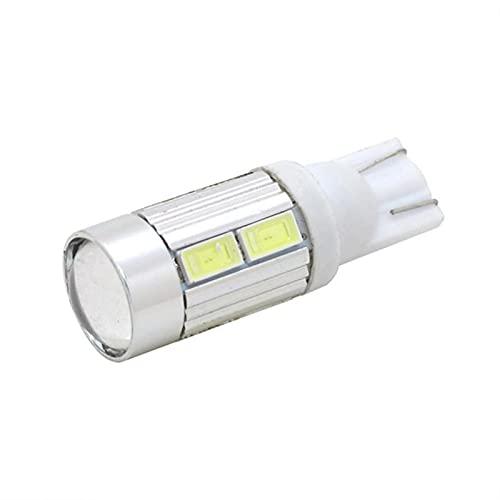Buscador de peces Luces de automóvil Automóvil Cuña Luz de luz Lámpara de lámpara Bombilla 12V Coche Styling T10 LED 5730 SMD W5W 194 PCS Pesca del transductor LCD Monitor (Emitting Color : White)