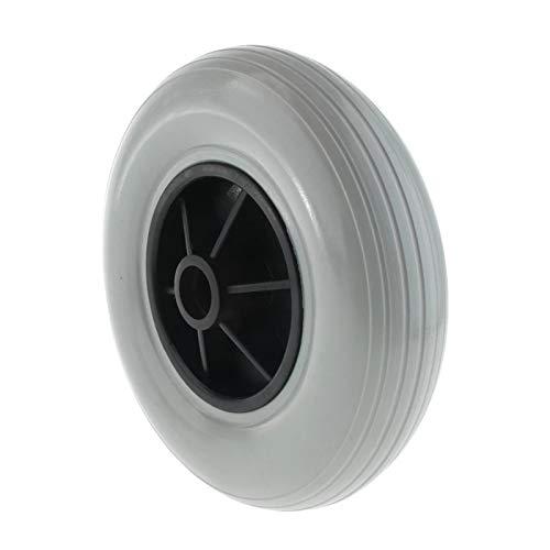 """XIJING Neumático de Rueda para Silla de Ruedas eléctrica/Neumáticos de Goma Maciza para Ruedas Delanteras traseras/Rueda de Repuesto/Rueda para sillas de Ruedas eléctricas, 8""""(200x50),Gris"""
