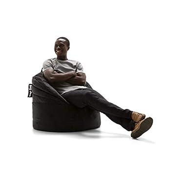 Big Joe Stack Chair Black Plush Bean Bag