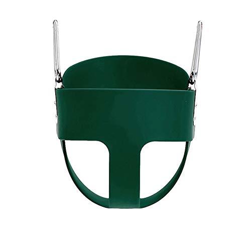 Columpio infantil Asiento de swing de bebé, respaldo alto Cubo completo Sillón de swing asiento, silla de swing de niños jardín al aire libre Cubo colgante completamente ensamblado ( Color : Green )