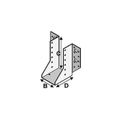 Fixtout - Sabot de charpente à ailes extérieures (P x l x H x ép) 80 x 200 x 240 x 2,5 mm - Fixtout