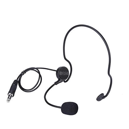 DAUERHAFT Auriculares unilaterales con micrófono y radioaficionado, para guardaespaldas, para Oficina Comercial