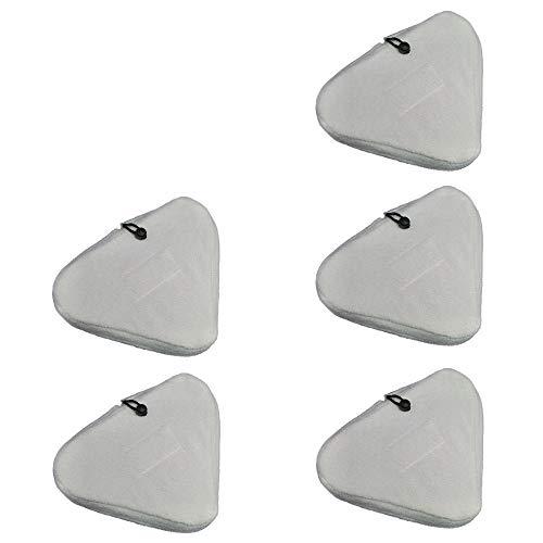 5 Bezüge Ersatztücher für Dampfbesen Premium/Größe Bodentücher aus Mikrofaser Putztuch Bodentuch Bezug