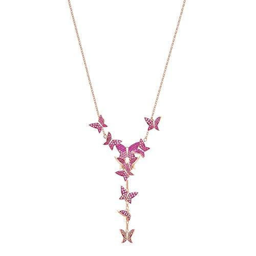 Swarovski Lilia Y-Halskette, mehrfarbig, rosé Vergoldung