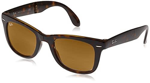 Gafas de sol Ray-Ban RB4105Wayfarer, plegables, no polarizadas, 50mm Tortoise Brown Classic B-15 50 mm