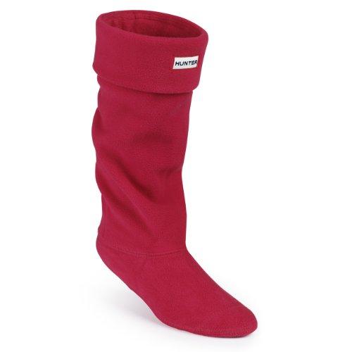 Unisex Adultos Hunter Boot Calcetín térmico largo Original Fleece Wellington, Rojo (Rojo), Large