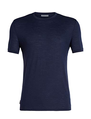 icebreaker Herren Spector SS Crewe Merino T-Shirt, Midnight Navy, XXL