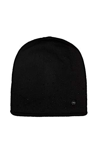 ESPRIT Accessoires Damen 110EA1P305 Beanie-Mütze, 001/BLACK, 1SIZE