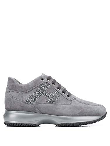 Hogan Luxury Fashion Damen HXW00N0S360O6UB800 Grau Wildleder Sneakers | Herbst Winter 20