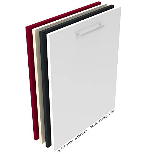 Geschirrspülerfront 19mm voll-, teilintegriert und nach Maß (Weiß (hochglanz), 594x565mm)