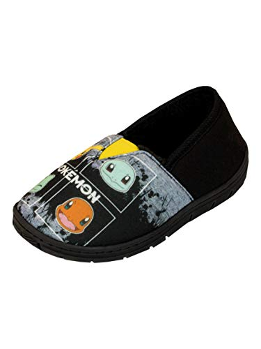Pokemon Jungen Hausschuhe Schwarz 26