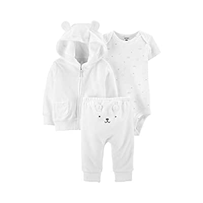 Carter's Baby Boys' 3 Piece Terry Cardigan Set (Baby) - Ivory Terry - 12M