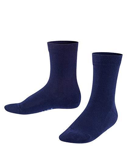 FALKE Unisex Kinder Family K SO Socken, Blau (Dark Marine 6170), 35-38 (9-12 Jahre)