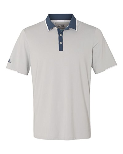 adidas Mens Climacool Performance Colorblock Sport Shirt (A166) -Stone/Min -L
