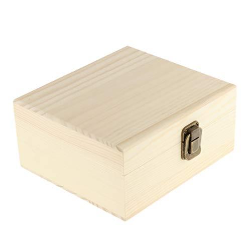 Caja Que Lleva de La Caja de Almacenamiento de La Exhibición Del Aceite Esencial Natural Hecho a Mano de 12 Rejillas