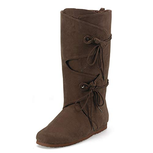 Higher-Heels Funtasma Stiefel für Herren Renaissance-100 braun Gr. 43,5-45