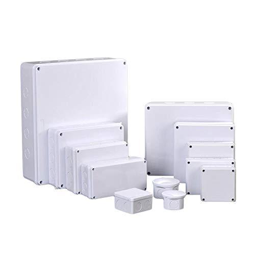 SENRISE - Scatola di derivazione elettrica, IP55, resistente alle intemperie, scatola porta strumenti di progetto, foro di apertura (1 pz - 50 x 50 mm)