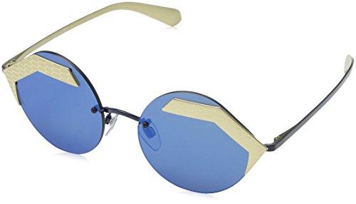 Bulgari 0BV6089 202255 55 Gafas de sol, Dorado (Mat Pale Gold/Pale Gold/Grey), Unisex-Adulto