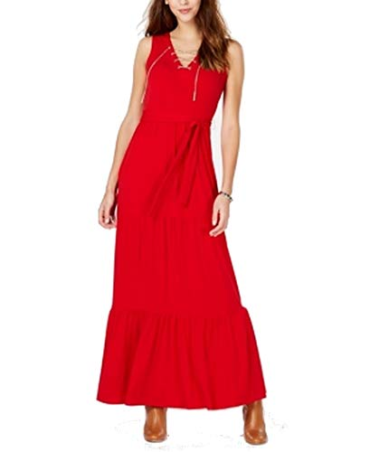 Michael Michael Kors Chain Lace-Up Maxi Dress