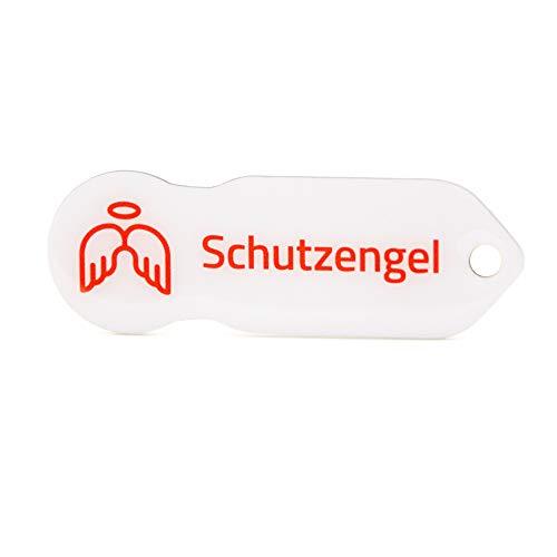 """Einkaufswagenlöser """"Schutzengel"""", Praktischer Einkaufschip & Schlüsselanhänger/Motiv: Schutzengel, inkl. Schlüsselfundsrvice, Key-Finder"""
